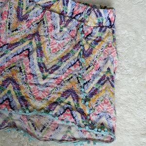 HIGH WAISTED SWIM OR SUMMER SHORTS-MULTICOLORED